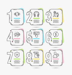 24 hours discount and headphones icons technical vector