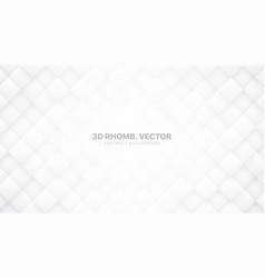 3d rhombus grid white abstract background vector