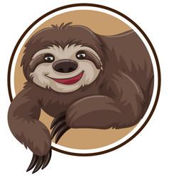 A sloth sticker template vector