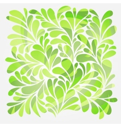 Abstract background with bright green curls and vector