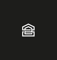 abstract linear house logo home universal vector image