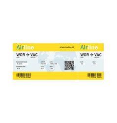 air ticket by plane with text vector image