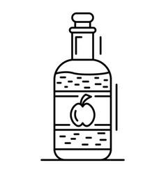 Apple vinegar icon outline style vector
