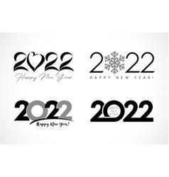 big set 2022 text design heart snow simple vector image