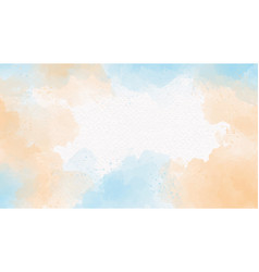 Blue sea and sand beige watercolor splash on vector