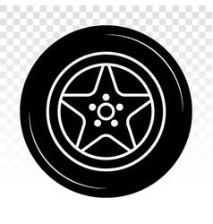 Car tire vehicle or automobile tire alloy wheel vector