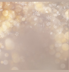 Christmas and new year gold defocused bokeh lights vector