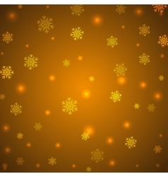 Christmas yellow background with snowflakes and vector