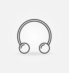 circular barbells horseshoe outline icon vector image