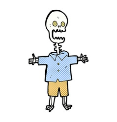 comic cartoon skeleton vector image