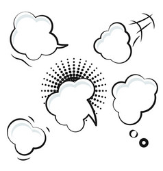 comic speech bubble white icons vector image
