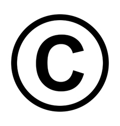 Copyright symbol icon vector