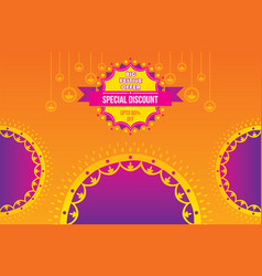 creative diwali festival offer poster design vector image