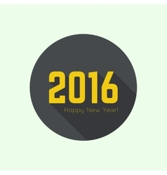 creative happy new year 2016 vector image