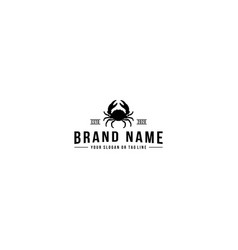 Creative logo design crab vector