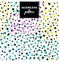 creative seamless pattern with hand drawn textures vector image