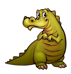 Crocodile in cartoon style vector