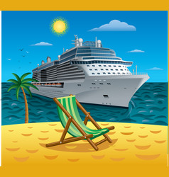 Cruise tropical resort vector