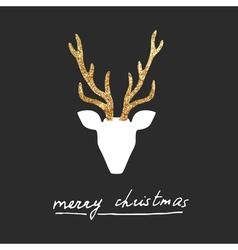 Deer postcard vector