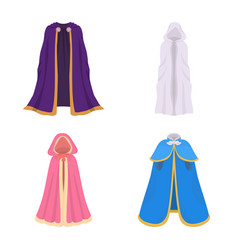 Design cloak and clothes icon set of vector