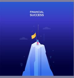 financial success - modern isometric web vector image
