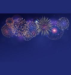 Fireworks on twilight background vector