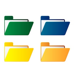 Folders with paper sheet vector