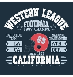 Football Athletic T-shirt design vector