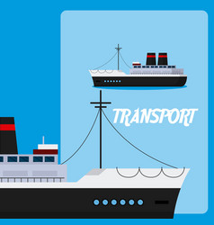 Freigther ship maritime transport vector
