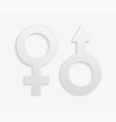 gender symbols signs vector image