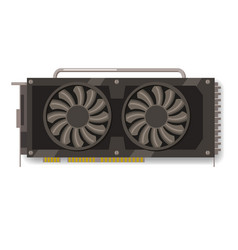 gpu videocard for mining isolated icon blockchain vector image