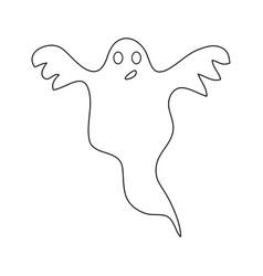 Halloween ghost outline icon symbol design vector