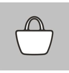 Handbag icon on background vector image