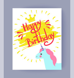 Happy bithday colorful card vector