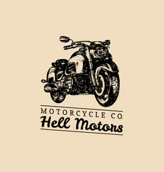hell motors advertising poster hand drawn vector image