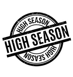 High season rubber stamp vector