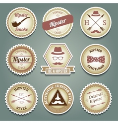 Hipster paper labels vector image