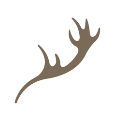 horns reindeer isolated icon vector image