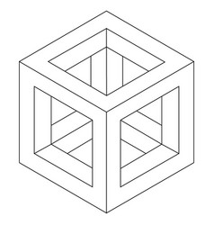 Impossible cube vector