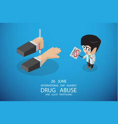 International day against drug concept vector