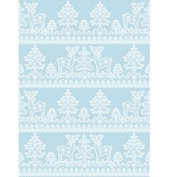lace deer pattern vector image