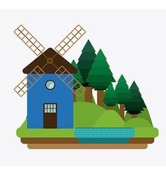 Landscape design vector