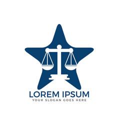 Law firm logo design vector