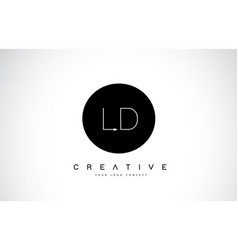 Ld l d logo design with black and white creative vector