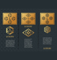 Luxury design brochure flyers template with vector