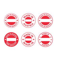 made in austria labels set republic austria vector image