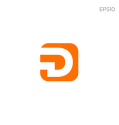 Monogram initial d d logo template black color vector