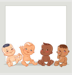 multinational babies set vector image