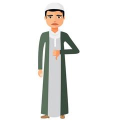 muslim arab angry unhappy businessman vector image