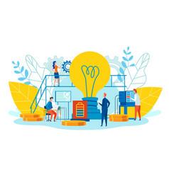 Peculiarities and main ways teamwork cartoon flat vector